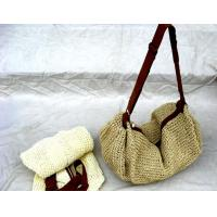 Buy 27428 straw beach bags online straw shoulder tote bag at wholesale prices