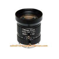 """Quality 2/3"""" 8mm F1.6 Megapixel Manual IRIS C Mount Industrial FA Lens, 8mm 5MP machine vision industrial Lens for sale"""