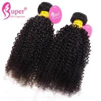 Quality Cuticle Aligned Black Weave Afro Kinky Curly Virgin Hair / Deep Body Wave Peruvian Hair for sale