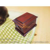 Good Quality Traditional Matte Walnut Wooden Pet Urns for Dogs and Cats, Small Order, Quality Guarantee
