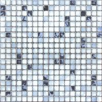 Quality Kitchen Crystal Glass Mosaic Tiles 30 X 30 cm Metal Glazed / Interior Wall Tiles for sale