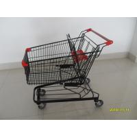 Buy 125L Supermarket Push Cart With Flat / Travelator Casters , 941x560x1001mm at wholesale prices