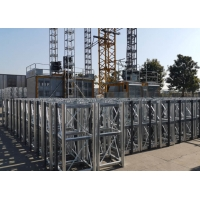 Quality 46M/Min Steel Q355B Vertical Construction Hoist With Double Cages for sale