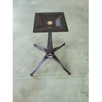Quality Pedestal Restaurant Table Bases Cast Iron Diamond Column Sandy Texture Finish for sale