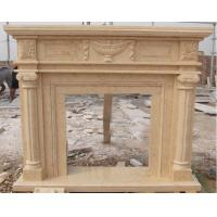 Quality Yellow marble fireplace surround for sale