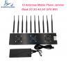 Buy cheap 10 Antennas 315 433 868 Car Remote Signal Jammer 40m Range GPS WiFi Blocker from wholesalers