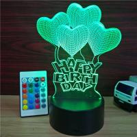 Quality Chinese Supplier factory price visual illusion light touch panel 3D led night lamp decoration lamp for Christmas gift for sale