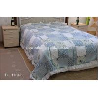 bedding sets,Elegent ruffled patchwork quilt polyester quilted comforter set,filling with cotton or polyester