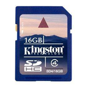 Quality Kingston 16 GB SDHC Class 4 Flash Memory Card SD416GB for sale