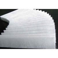 China Hot Stamping Non Woven Textile , White / Blue Non Woven Filter Fabric on sale