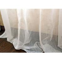 Quality Upholstery White Sheer Curtain Fabric / Extra Wide Polyester Voile Fabric for sale