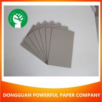 China Laminated grey chip board solid cardboard paper on sale