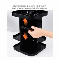Quality Four layers non-folding cosmetics rack standing type 360 degree rotation makeup organizer for sale