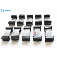 Quality 1.27mm Pitch Flat IDC Ribbon Cable Assembly With Traditional IDC Connector for sale