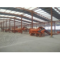 Quality Sheep and goat dung recycle organic fertilizer production line for sale for sale