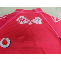 Quality Polyester Interlock Red Rugby Wear sublimated jerseys for Women , Men for sale