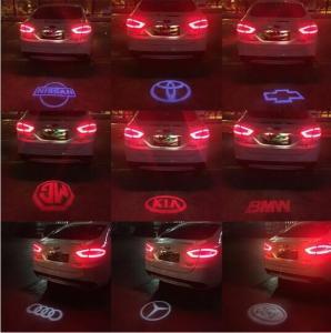 Quality LED Laser Tail Fog Light Auto Brake Parking Lamp Rearing Warning Light AUDI BMW VW LOGO for sale