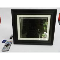 China Black 8 Inch High Resolution Digital Picture Frame With Wooden Frame 350cd/m2 on sale