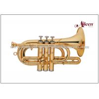 Buy cheap Lacquered Brass Spainish style China Brass Cornet ( CN8713G) Brass Music Instruments from wholesalers