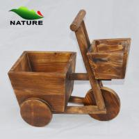 Quality Flower Planter / Wood Car Cute Flower Planter for Indoor and Outdoor for sale