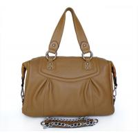 Quality Women Style New Design Genuine Leather Khaki Shoulder Bag Handbag #2624 for sale