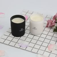 Quality Glass Scented Jar Candle Matte White / Black Painting With Customized Packaging for sale