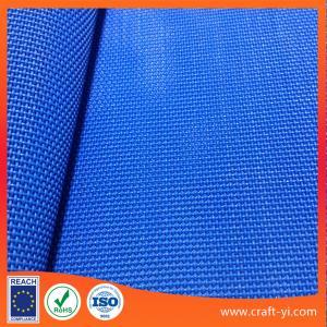 China Blue 1X1 Weave High Strength 450 g Textilene fabric Suppliers PVC coated mesh fabrics on sale