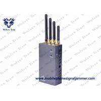 Quality 5 Band Portable 3G Cell Phone Signal Jammer HS Code 8543709200 Black for sale