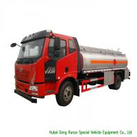 Quality FAW 9CBM Petroleum Oil Tanker Truck For Transport With 3 Persons Seater for sale