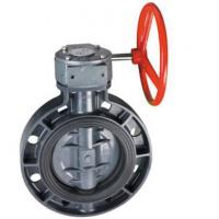 Quality Manual actuated PVC butterfly valve for sale