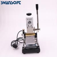 Quality SWANSOFTHot Stamping Machine For PVC Card Member Club Hot Foil Stamping Bronzing Machine for logo trademark for sale