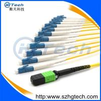 Quality 12Core 9/125 Singlemode Fiber Optic MPO-LC Patch Cord for sale