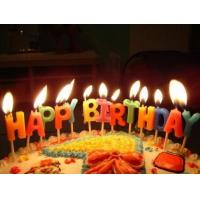 Quality Glitter Letter Birthday Candles For Cake Decoration Food Grade OEM / ODM Service for sale