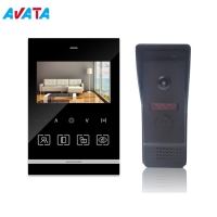 Quality 4.3inch Fashion Design Video Intercom System for Smart Home with Sensor Button for sale