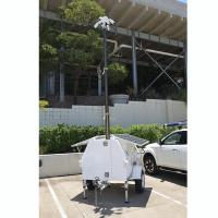 Quality 4.5m lockable pneumatic telescopic CCTV mast pick up trailer mounted for mobile security services for sale