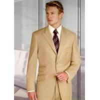 Quality A - V classic three buttons 65% polyester 35% viscose mens business suits for sale