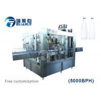 Buy cheap Automatic Auxiliary Equipment Glass Bottled Beer Filling Capping 3 In 1 Machine from wholesalers