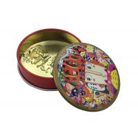 Quality 3D Embossed Mini Round Small Tin Jars Client Design For Earring / Jewelry Packing for sale