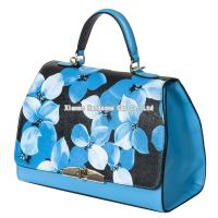 China Floral Genuine Cow Leather Lady Fashion Bag WB-008 on sale
