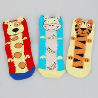 Quality Customized Colorful Sports Socks , Kids Novelty Socks With Cute Tiger / Dog Cartoon Animal Patterns for sale