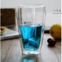 Buy Borosilicate double wall glass handmade  500ml big glass cup with handle and lip clean Heat-resisting glass cup at wholesale prices