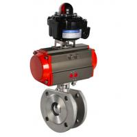 Quality pneumatic steam control ball valve actuated ball valve for sale