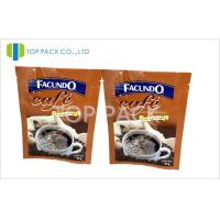 Quality Three Side Heat Sealed PET/VmPET/PE Heat Seal Closure Bag for Coffee Packaging for sale