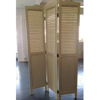 China Foldable 3 Panels Wooden Decorative Screens Room Divider Partition Wall on sale