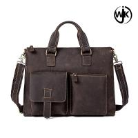Genuine leather portfolio dropshipping men crossbody leather bags handmade briefcase for men