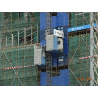 Quality Twin Cage Safety 450m Passenger Material Rack And Pinion Hoist for sale
