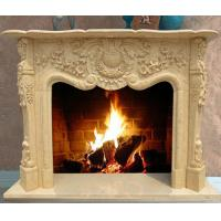 Quality Yellow Marble Fireplace Mantel for sale