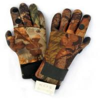 Quality 2MM Camo Neoprene Hunting Gloves Shark Skin With Velcro Closure for sale