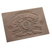 Quality custom leather clothing tags leather luggage labels embossed leather patches for sale