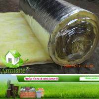 Quality roof heat insulation materials/glass wool blanket for sale